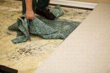 water damage carpet padding removal